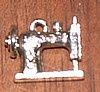 Sewing Machine Pewter Charm